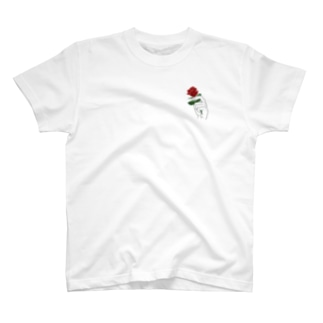 おやすみ屋さん(仮)の薔薇-淡色ベース- T-shirts