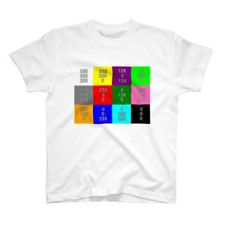 【サンプル】色見本Tシャツ T-shirts
