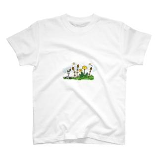 つくしとたんぽぽ Tシャツ