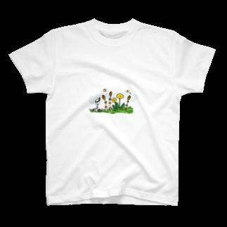 いろはのつくしとたんぽぽ T-shirts