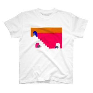 ハリハリネズミさんの第一歩 T-shirts