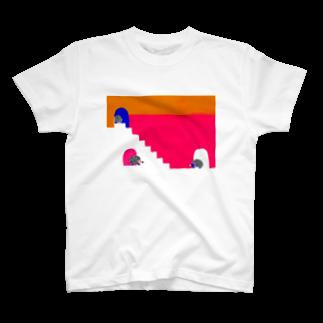 Ruesiii Fika(ルーシー フィーカ)のハリハリネズミさんの第一歩 T-shirts