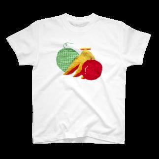 さぶのさぶクロスステッチフルーツ T-shirts