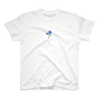 青い薔薇 T-shirts