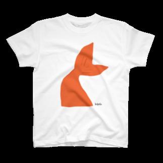 キイロイロのヒレ.橙 T-shirts