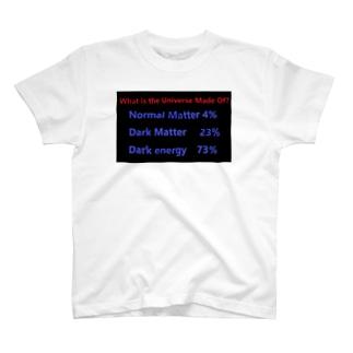 ダークエネルギー ダークマター 天文学 物理学 理系 T-shirts