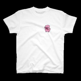 菊地ともみ🐽kikurinのポケっちょTシャツ T-shirts