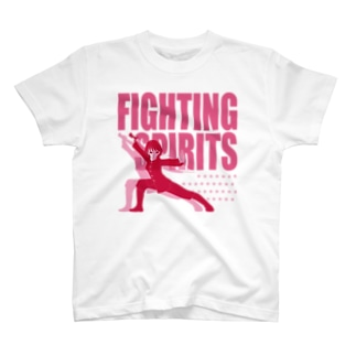戦う少女~FIGHTING SPIRITS(赤)~ T-shirts
