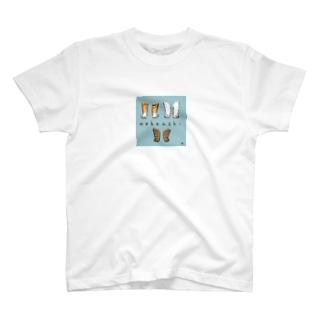 ねこあしイロイロ T-shirts