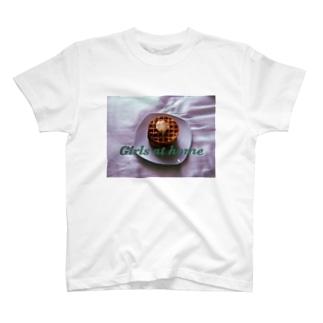 Girls at home waffles  T-shirts