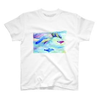 およげペンギン T-shirts
