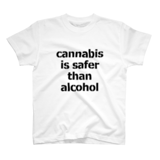 Legalize It ! のCannabis Is Safer Than Alcohol T-shirts