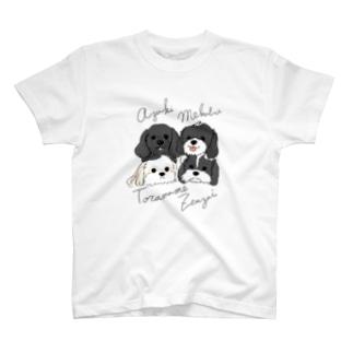 あずきとらさんぜんちゃんめっちゃん4匹 T-shirts