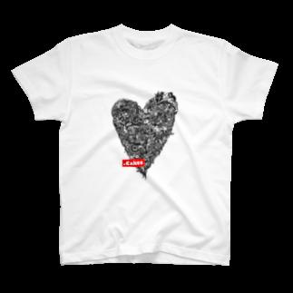 .Cakesの.CakesハートTシャツ(黒) T-shirts