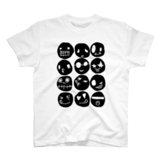 black face T-shirt T-shirts