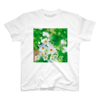 水色小花 T-shirts