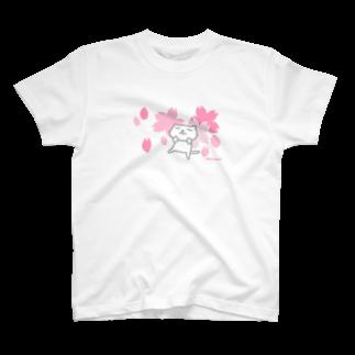 のびネコねこハウスSHOPののびネコねこハウス2019春・桜コレクション T-shirts