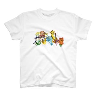 jazz・animals(clear) T-shirts