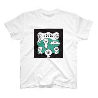 「AITSU」Tシャツ(あおみどり) T-shirts