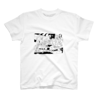 ワイドショーのドローイング(おおきなお) T-shirts