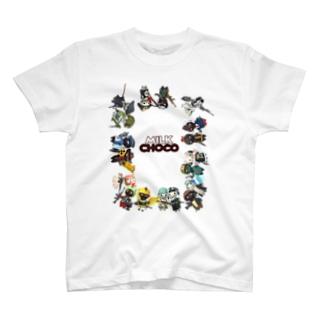 ミルクチョコオールキャラクター T-shirts