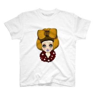 リボンヘアガール T-shirts