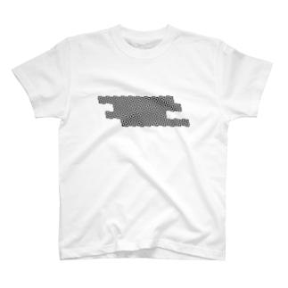 四角の幾何学模様 T-shirts