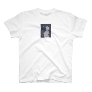 幽霊サカナと女の子 T-shirts
