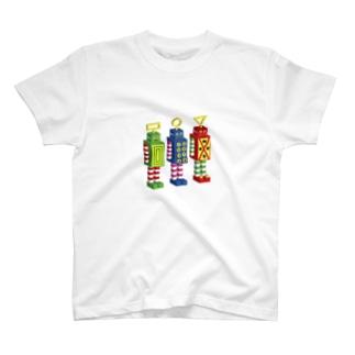 SUPER ROBOTS 1.2.3 T-shirts