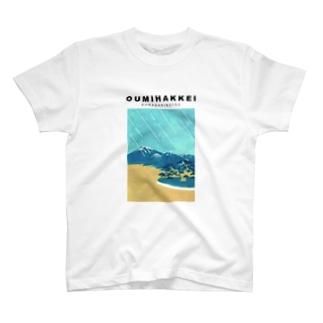 OUMIHAKKEI 唐崎夜雨 T-shirts