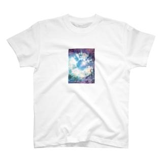 絞り★ブルーパープルプラス T-shirts