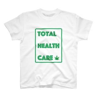 やーまん山田と向井さん - THC Leaf T-shirts