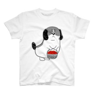 もじゃまるお見舞い 白黒 T-shirts