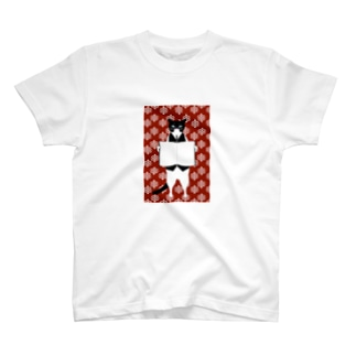 司書猫 白黒猫 T-shirts