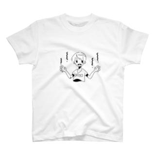 白黒ポップな男の子 T-shirts