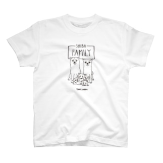 【tomi_moon】柴犬ファミリー T-shirts