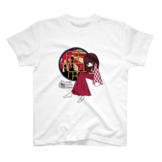 てるねこ × HOME HOSTEL OSAKA 新世界 T-shirts