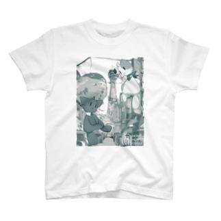 朝露らの × HOME HOSTEL OSAKA 新世界 T-shirts