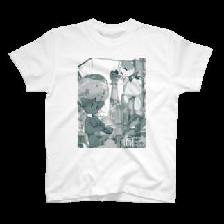 HOMEHOSTELGalleryの朝露らの × HOME HOSTEL OSAKA 新世界 T-shirts