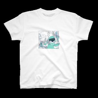 HOMEHOSTELGalleryのフジミヤ× HOME HOSTEL OSAKA 新世界 T-shirts