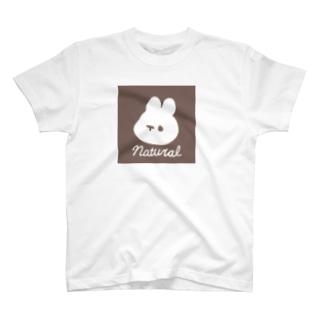 くぅもんせのナチュラルうさぎ T-shirts