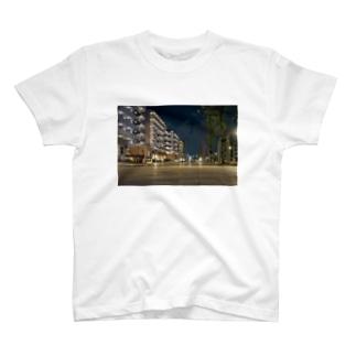 city×night sky T-shirts