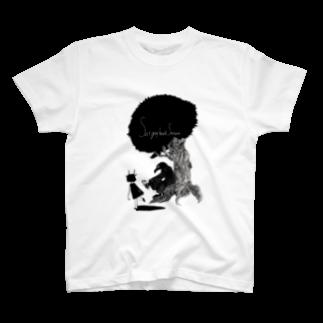 イナマスティル_スタイル文芸雑誌のSat Gray hair'd sataurn × 山本ろびんver.2 T-shirts
