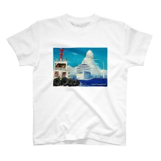 ヤマナミヤの飛鳥II 出航! T-shirts