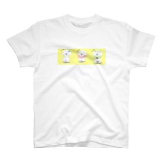 ビションフリーゼの三重奏 T-shirts