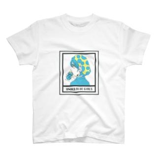 UNDER BLUE GIRL T-shirts