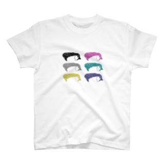 カラフルリーゼントさん T-shirts