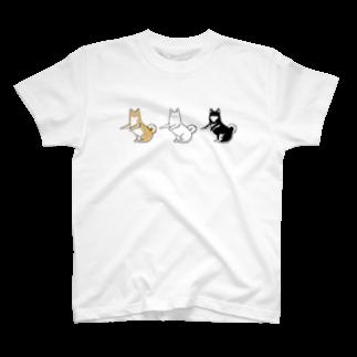 ホットドッグマートの柴トリオ T-shirts