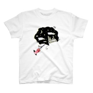 夜空を描くカフスくん。 T-shirts