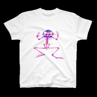 Keroponの透明標本 カエル T-shirts